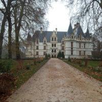 L'entrée principale du Château d'Azay-le-Rideau